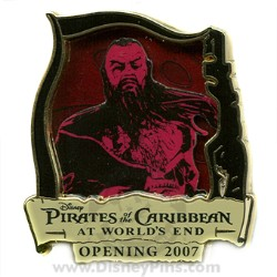 Disney Pirates of the Caribbean Pin - Countdown #6 - Sao Feng