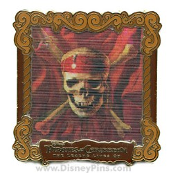 Disney Pirates of the Caribbean Pin - Legend Lives On - Lenticular