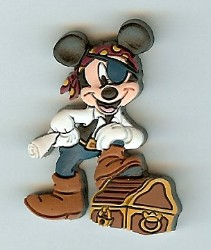 Disney Pirates Pin - Mickey Mouse (Rubber)