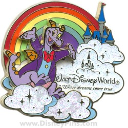 Disney Where Dreams Come True Rainbow Pin - Figment