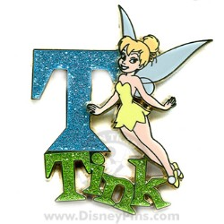 Disney Tinker Bell Pin - Glittered T