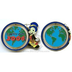 Disney Earth Day Pin - 2006 - Jiminy Cricket