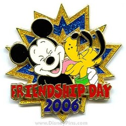 Disney Friendship Day Pin - Mickey Mouse and Pluto