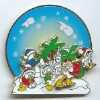 Disney Christmas Pin - Donald Duck and Nephews - Snow Ball Fight