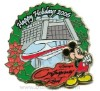 Disney Resort Christmas Wreath Pin - Contemporary Resort