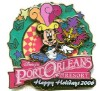 Disney Resort Christmas Wreath Pin - Port Orleans Resort