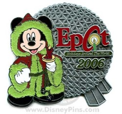 Disney Christmas Pin - Holidays Around The World - Mickey & Spaceship