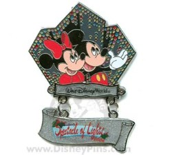 Disney Spectacle of Lights Pin - Mickey and Minnie