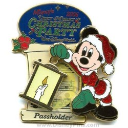 Disney Very Merry Christmas Party 2006 Pin Passholder Mickey Mouse