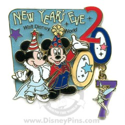 Disney New Year's Eve Pin - Mickey, Minnie and Tinker Bell