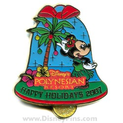 Disney Happy Holidays Pin - Disney's Polynesian Resort