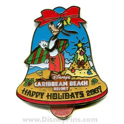 Disney Happy Holidays Pin - Disney's Caribbean Beach Resort