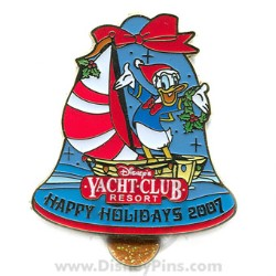 Disney Happy Holidays Pin - Disney's Yacht Club Resort