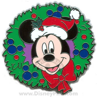 Disney Mystery Tin Pin - Happy Holiday 2008 - Mickey Mouse