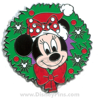 Disney Mystery Tin Pin - Happy Holiday 2008 - Minnie Mouse