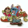 Disney Christmas Party Pin - Lilo & Stitch on Sled