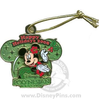 Disney Happy Holidays Pin - 2008 - Polynesian Resort