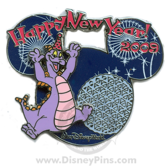 disney happy new year years pin figment