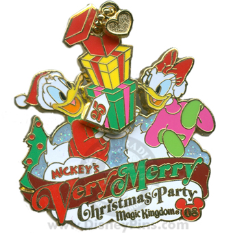 Disney Very Merry Christmas Party 2008 Pin - Donald and Daisy
