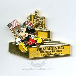 Disney President's Day Pin - Mickey Mouse