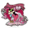 Disney Jumbo Pin - Happy Valentine's Day - Mickey & Minnie Mouse