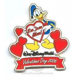 Disney Valentine's Day Pin - To My Valentine - Donald Duck
