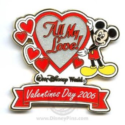 Disney Valentine's Day Pin - To My Valentine - Mickey Mouse