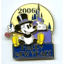 Disney Happy New Year Pin - Magic Kingdom
