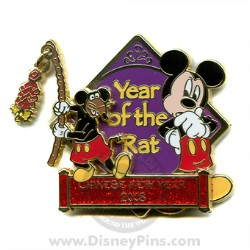 Disney Chinese New Year Pin - Year of the Rat