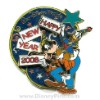 Disney Happy New Year Pin - Goofy and Donald