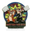 Disney Happy New Year Pin - Chip & Dale