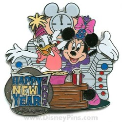 Disney New Year's Pin - Minnie and Daisy