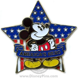Disney Patriotic Pin - Mickey Mouse - America's Hero