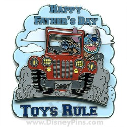 Disney Father's Day Pin - Toys Rule - Stitch