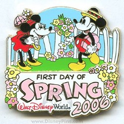 Disney First Day of Spring Pin - Mickey & Minnie Mouse