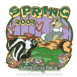 Disney Spring Pin - Flower and Thumper