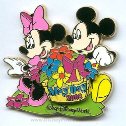 Disney May Day Pin - Minnie and Mickey