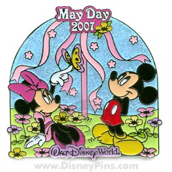 Disney May Day Pin - Mickey and Minnie