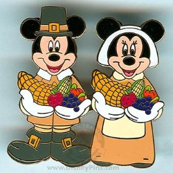 Disney Thanksgiving Pin - Mickey & Minnie - Pilgrims