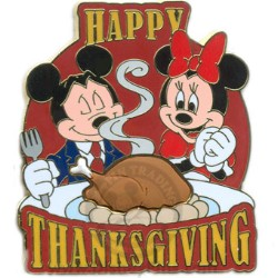 Disney Happy Thanksgiving Pin - 2008 Mickey and Minnie