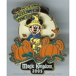 Disney Halloween Party 2005 Pin - Scarecrow Mickey