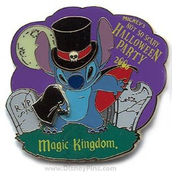 Disney Halloween Party 2006 Pin - Vampire Stitch