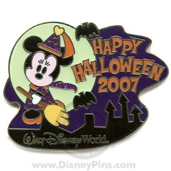 Disney Happy Halloween Pin - 2007 - Cute Characters - Minnie