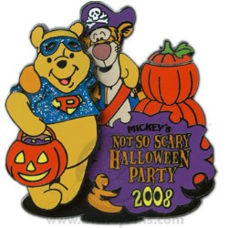 disney not so scary halloween party pin 2008 tigger and pooh