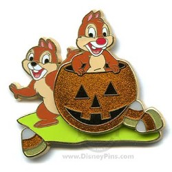 Disney Halloween Pin - Chip and Dale Candy Corn