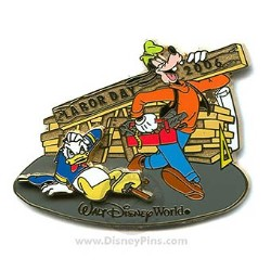 Disney Labor Day Pin - Donald Duck and Goofy
