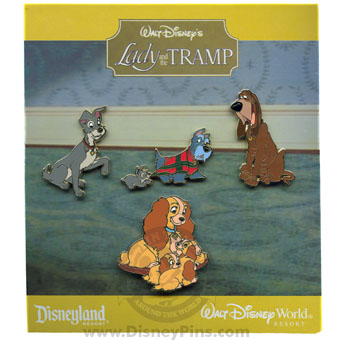 Disney Booster Pin Collection - Walt Disney's Lady and the Tramp