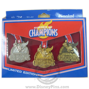 Disney Boxed Pin Set - Summer of Champions - Medals