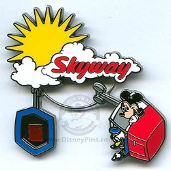 Disney Piece of Disney History II Pin - Skyway to Fantasyland Sign