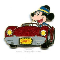 Disney Surprise Pin - Glitter Cars - Mickey Mouse